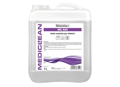 Mediclean MC420 antybakteryjen mydło wpłynie Vanessa 5000ml